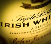 Jameson whiskey label (detail), photo © 2013 Douglas M. Ford. All rights reserved.