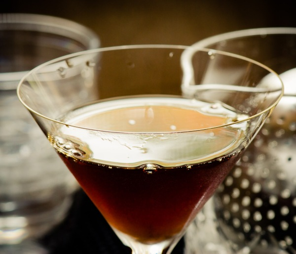 Black Manhattan cocktail (detail), photo © 2013 Douglas M. Ford. All rights reserved.