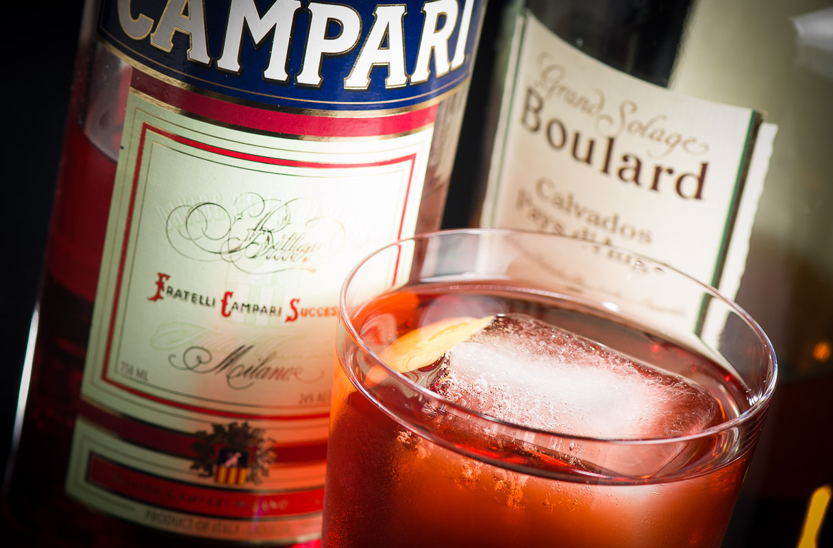 The Normandie Cocktail, a riff on the classic Negroni. Photo © 2014 Douglas M. Ford. All rights reserved.